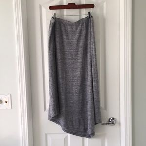 Eileen Fisher linen skirt with handkerchief hem.